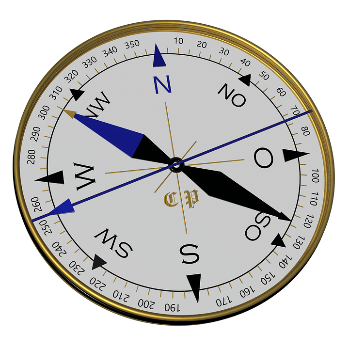 Free Illustration Compass Black Blue Gold 3d Free