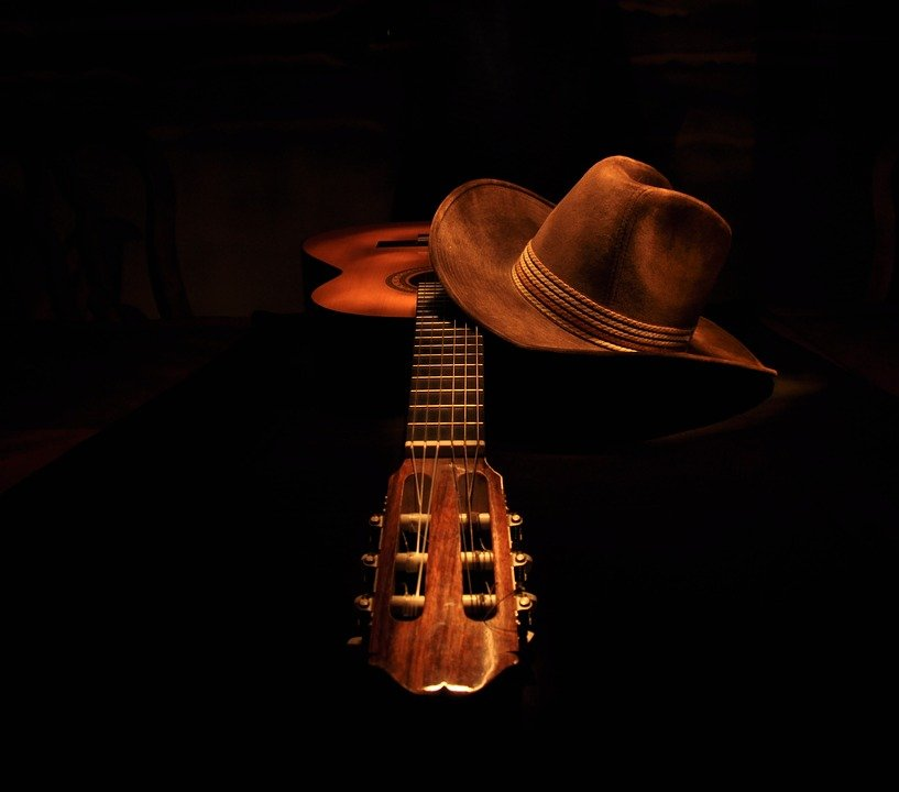 guitar classical cowboy hat light 183 free photo on pixabay