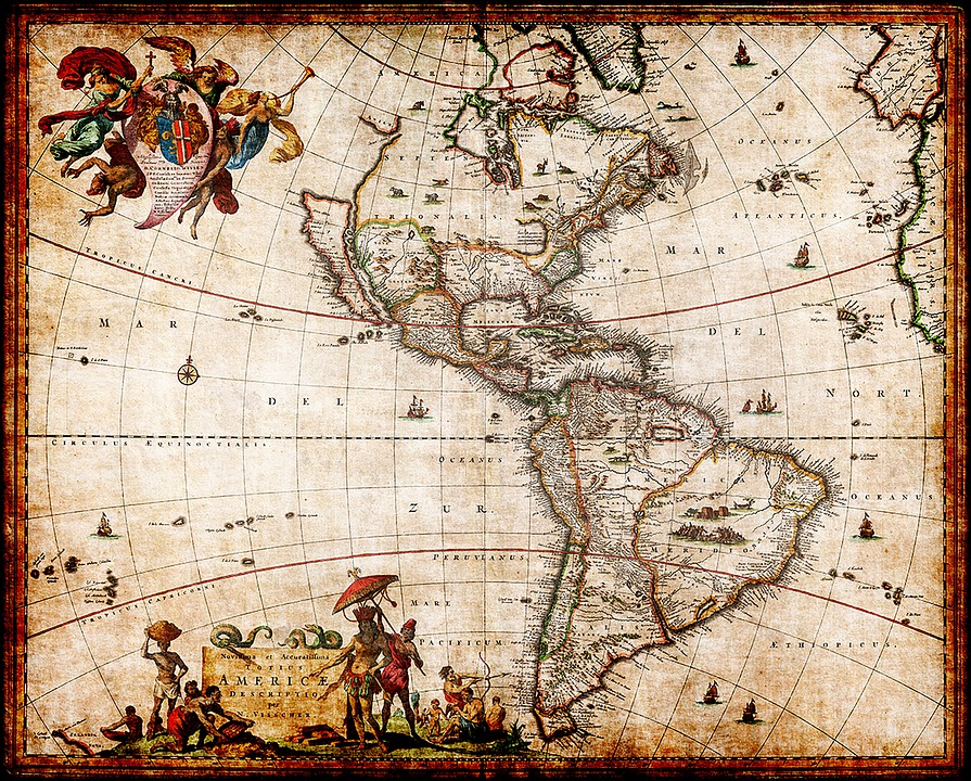 Kostenlose Illustration Nordamerika Karte Sdamerika Karte