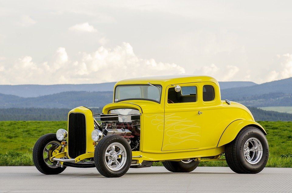 Classic Car Yellow Hot Rod · Free photo on Pixabay