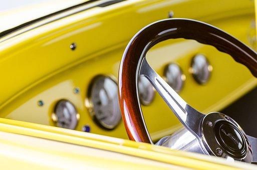 ステアリング ホイール, クラシックカー, ホットロッド, 筋肉の車, ダイヤル