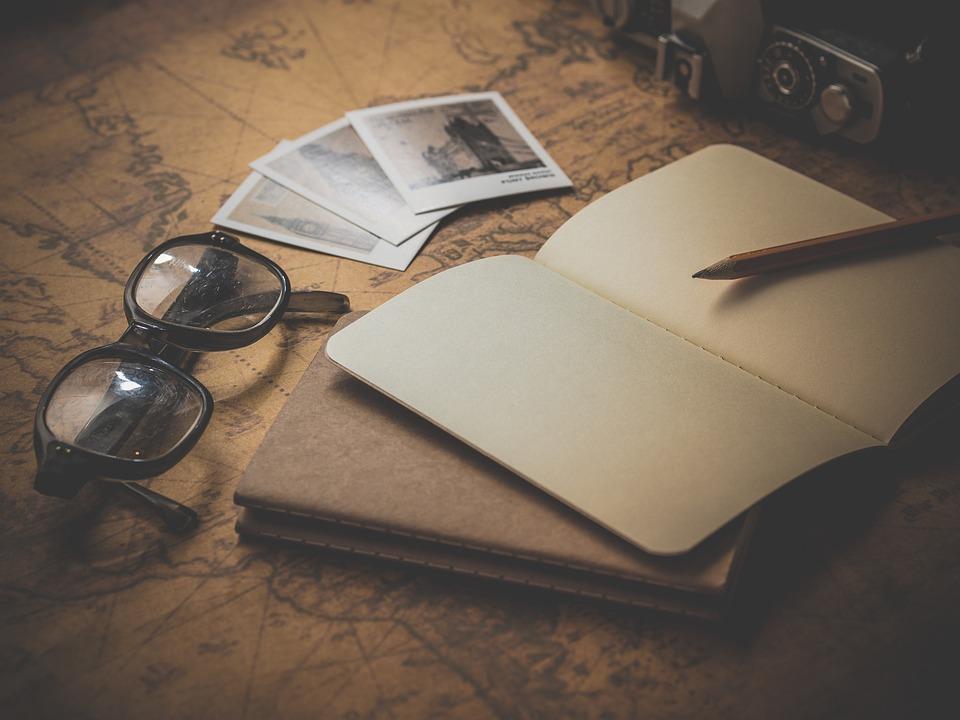 Poznámkový Blok, Brýle, Cestovní, Plánování, Stránky