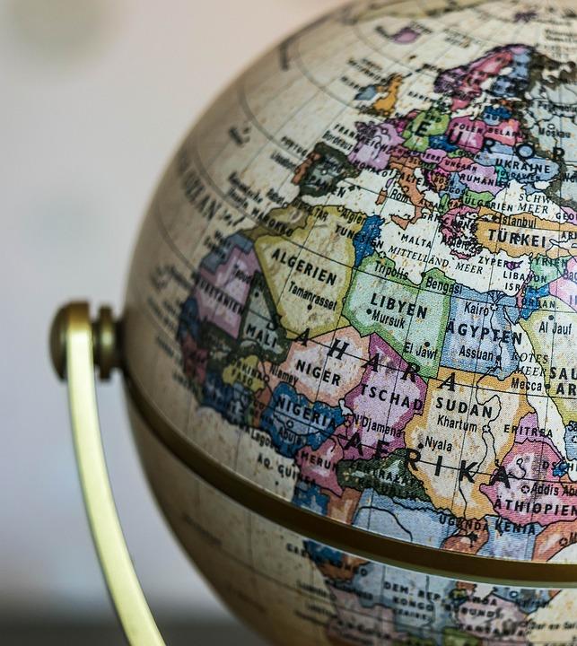 Glóbus, Země, Svět, Mapa Světa, Kontinenty, Planeta