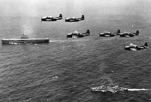 Second War Planes Ship Mar Mediterranean A