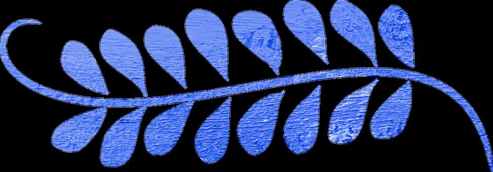Leaf, Swirl, Blue, Decoration, Border