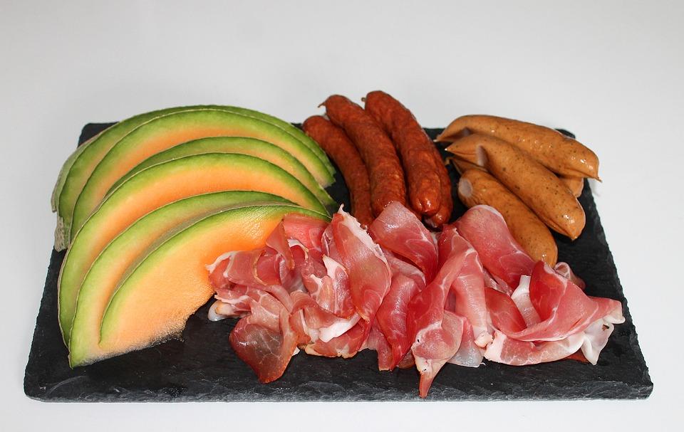 Tapas, Cibo, Prosciutto, Carne, Melone, Salsicce