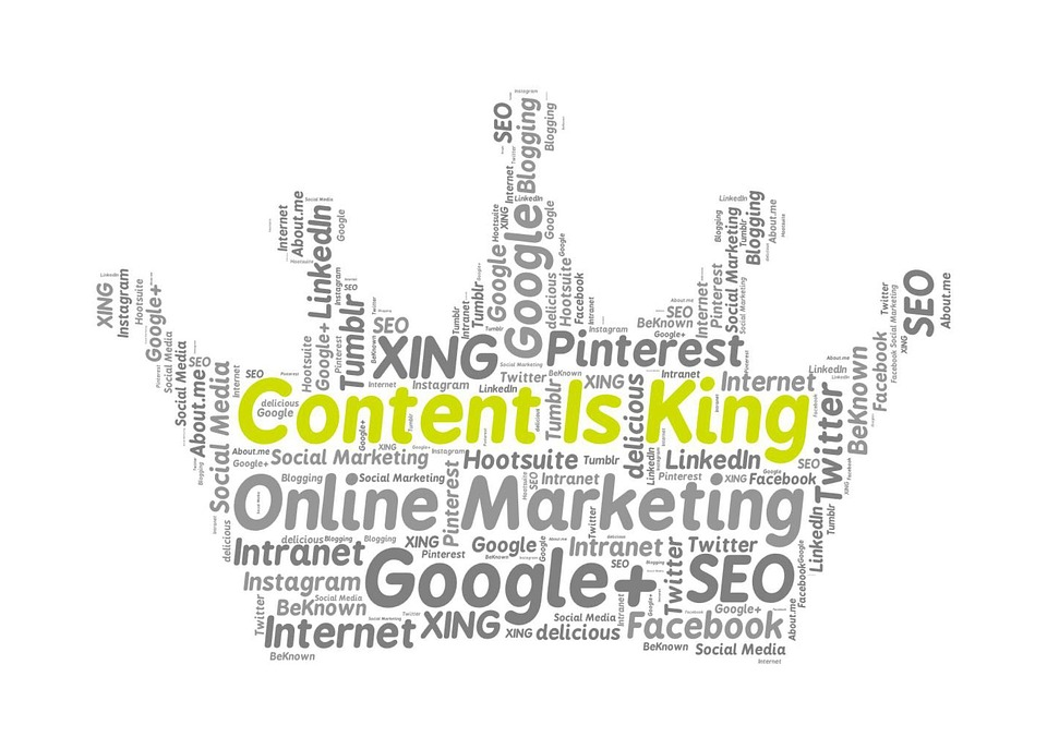 Content Is King Online Marketing · Free Image On Pixabay