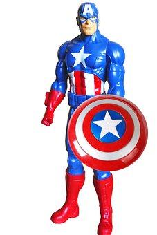 スーパー ヒーロー, キャプテン ・ アメリカ, アメリカ, キャプテン, 衣装