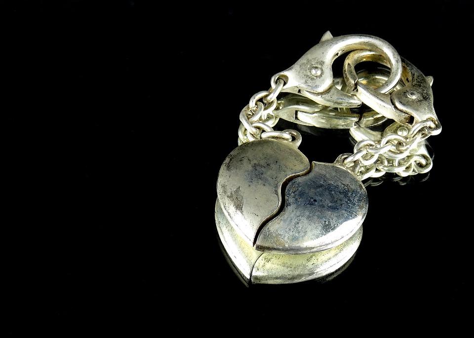 Gold, Heart, Keychain, Romance, Love, Jewellery
