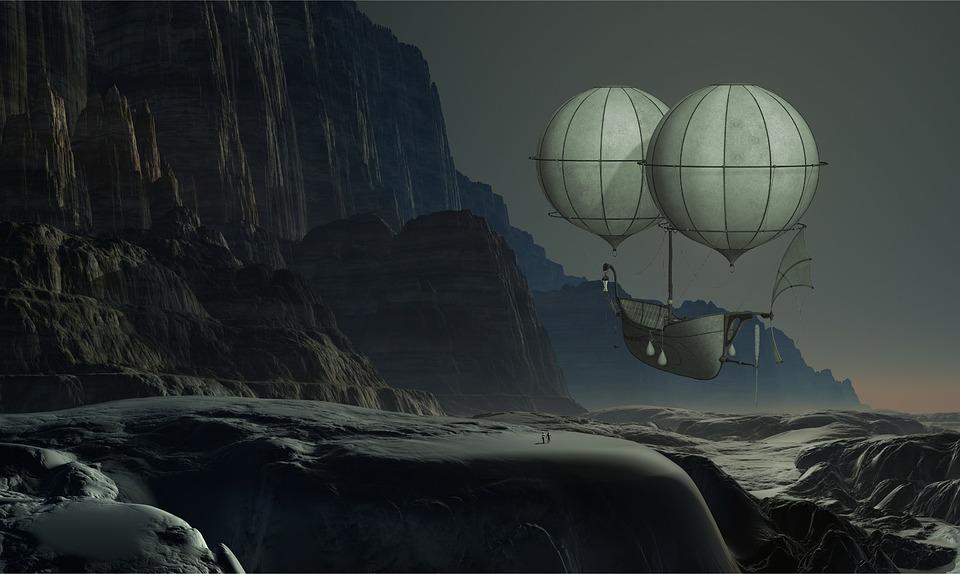 Air, Balloon, Steampunk, Hot Air Balloon, Darkness