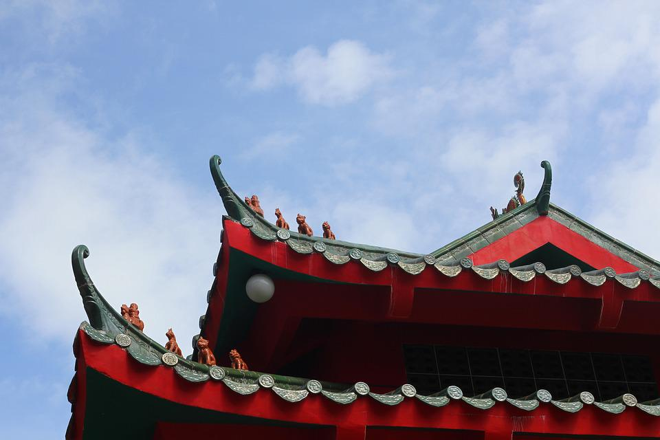 Roof Chinese Architecture Traditional Asia Culture