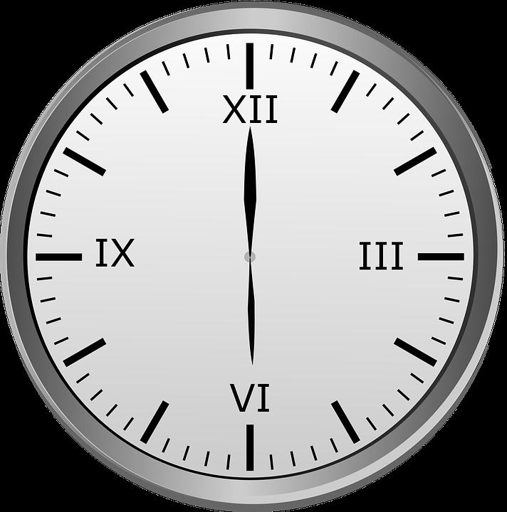 Clock Hour 12 6 · Free Image On Pixabay