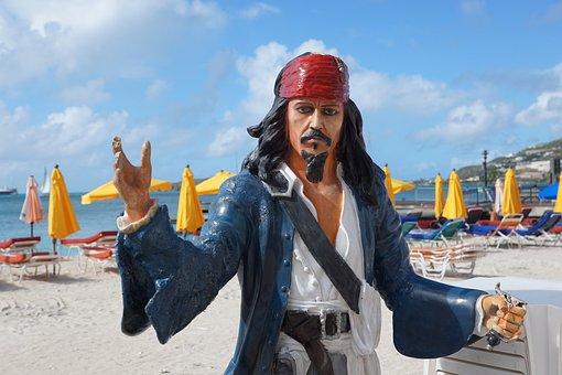 Pirat, St Maarten, Figur, Philipsburg