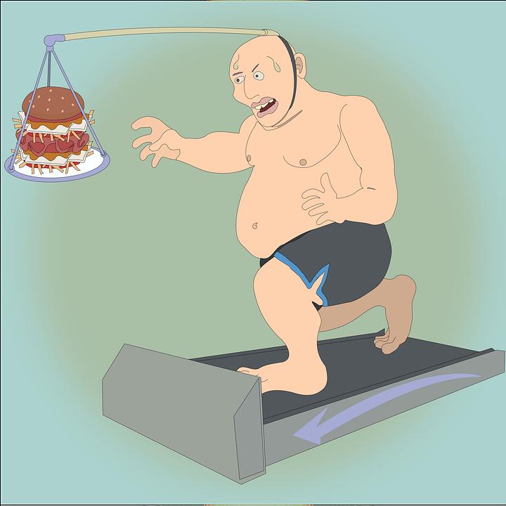 痩身, 物理的な運動, トレッドミル, 実行, 身体活動, 太りすぎ, 電源装置, 重量, 肥満, 漫画