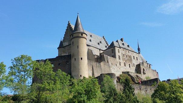 Vianden, Castle, Luxembourg, Landmark