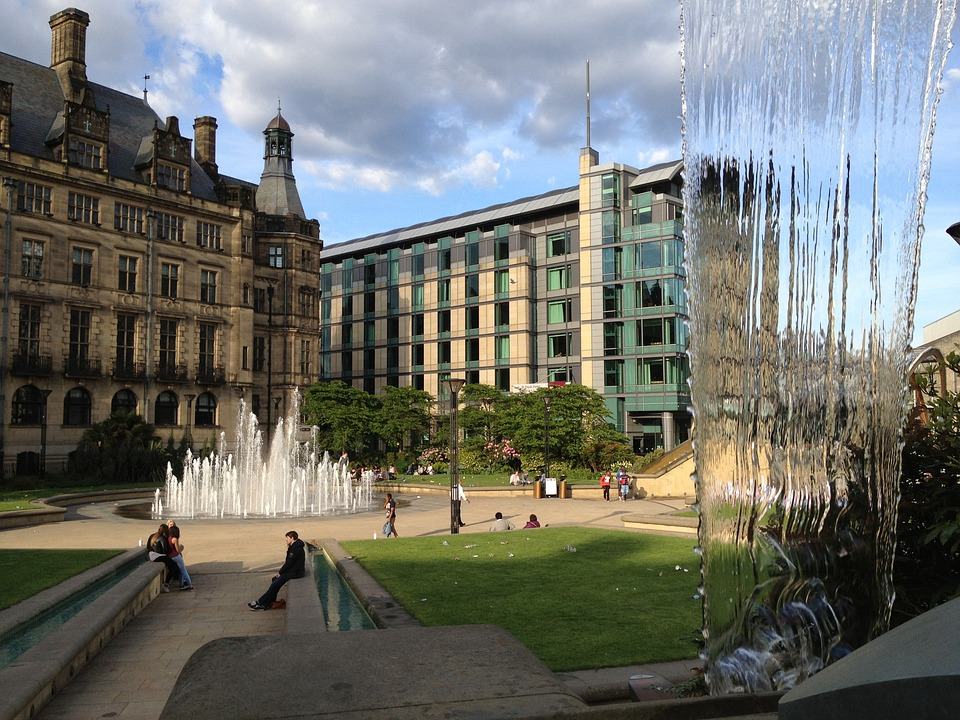 Old and new buildings in Sheffield