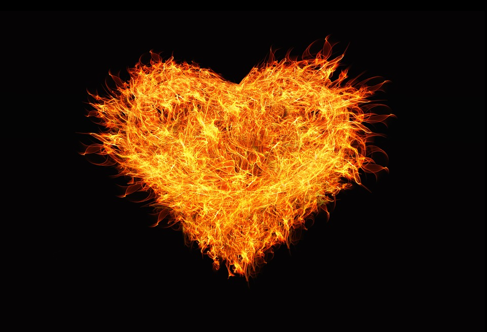 Heart, Love, Flame, Fire, Brand, Burn, Blaze