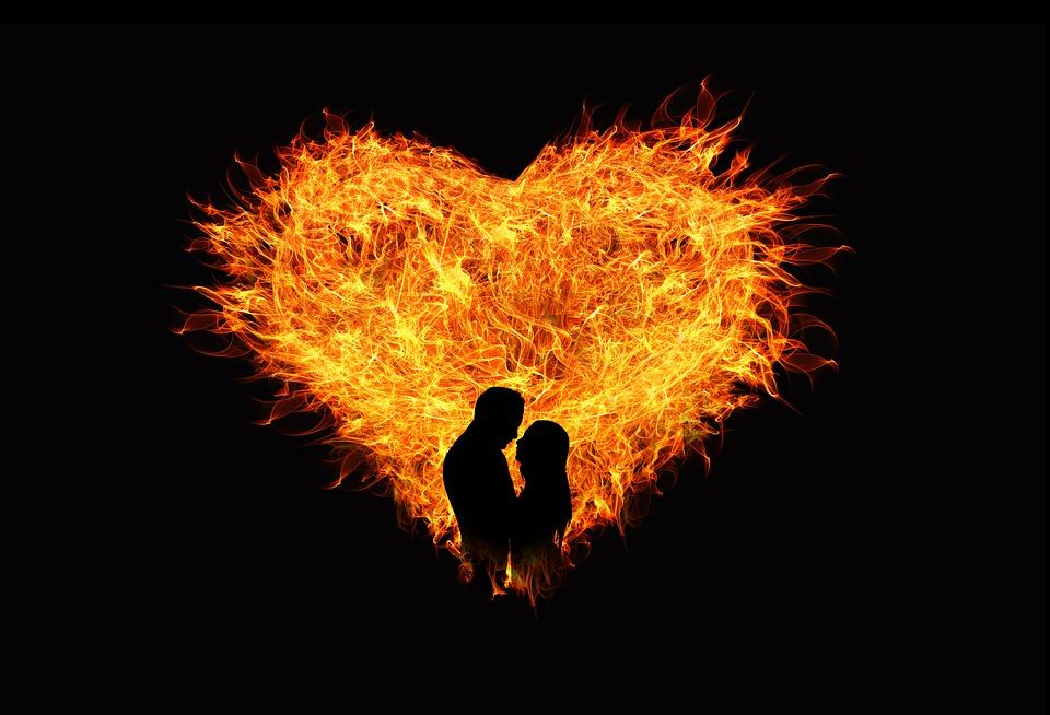 Heart Love Flame Lovers Man Woman