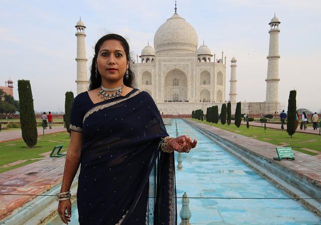 Free Photo Woman Taj Mahal Religion Agra Free Image