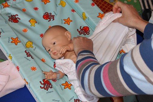 人形, 子, 出産, 妊娠, 妊娠中のお母さん, トレーニング