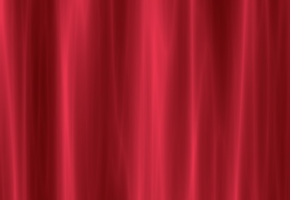 Free photo Curtain Red Window Red Curtain Free Image on