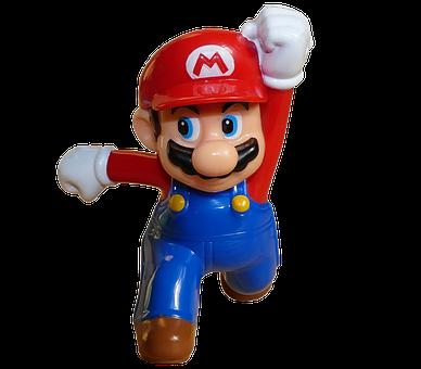 スーパー, マリオ, 赤, 跳躍, 男, 実行している, ビデオ, ゲーム