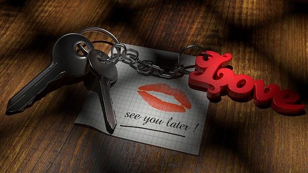 Valentine'S Day, Love, Key, Still Life