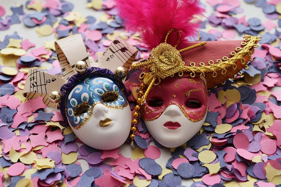 Maske, Fasnacht, Karneval, Konfetti, Bunt, Venedig