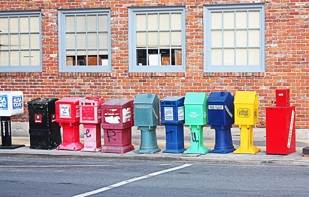 Post boxes of USPS