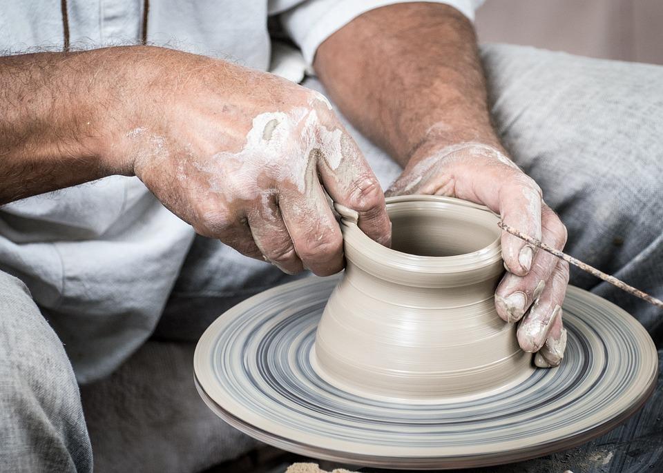 陶器, 手作り, カップ, 花瓶, 手, 粘土, ハリーポッター, セラミックス, 轆轤, 汚い, 1 つ