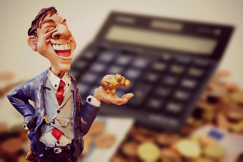 Lucro, Empresário, Finanças, Calculadora, Moedas