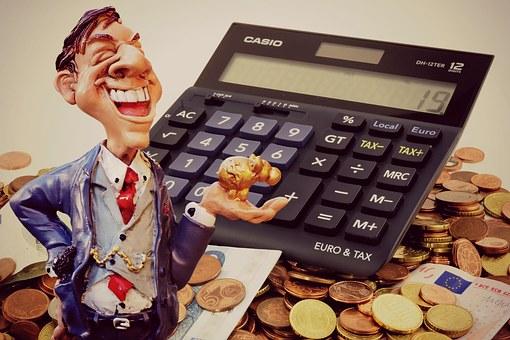 利益, 実業家, 金融, 電卓, コイン, 貯金箱, ブーム, 資本市場, お金