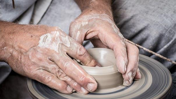 Hands, Clay, Potter, Pottery