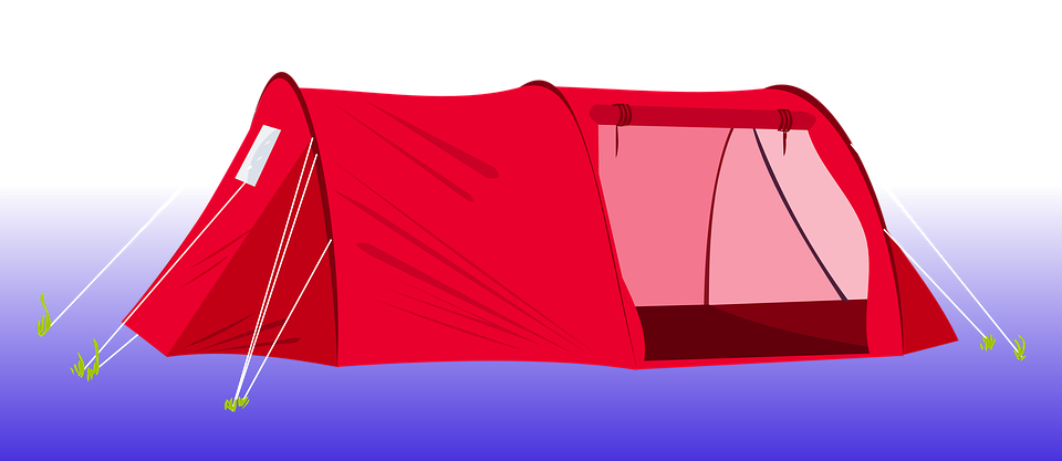 Tent Camping Red Clip Art Camp