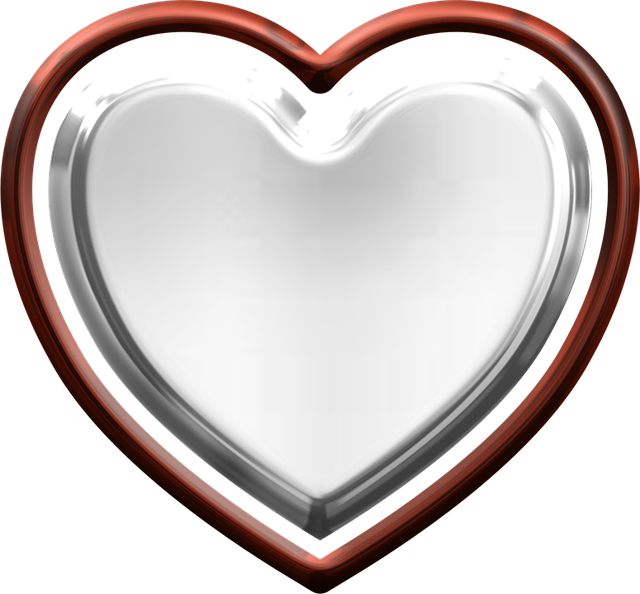 free illustration heart metallic valentine love free