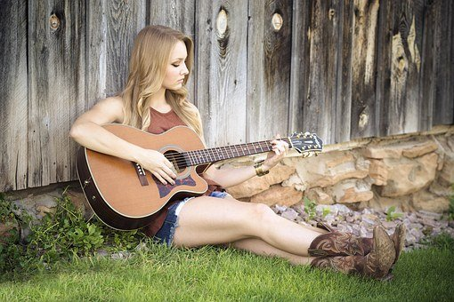 Guitar Country Girl Music Guitarist Countr