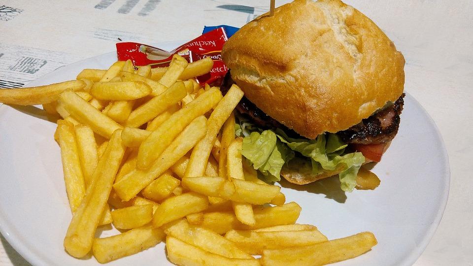 Foto Gratis: Hamburguesa, Comida, Papas Fritas