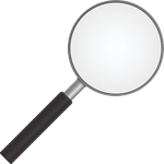 magnifying glass, zoom, detective