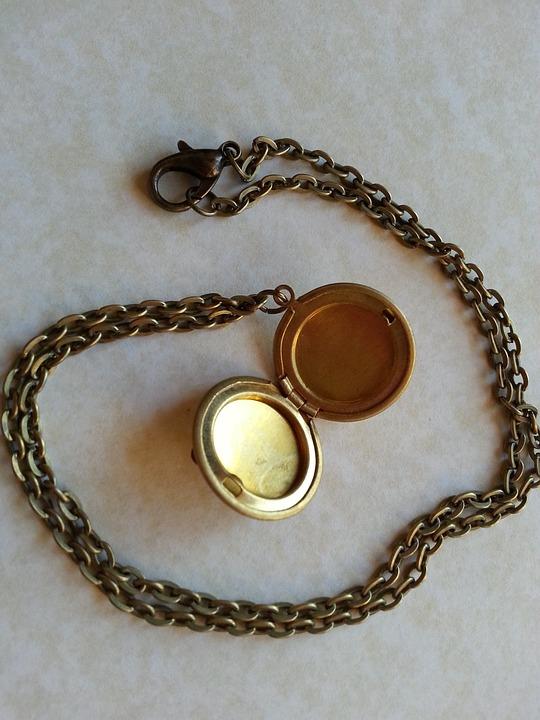 Locket, Necklace, Chain, Precious, Memory, Open