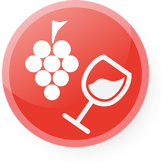 Wine Glass Icon Vector Wine Glass Dri