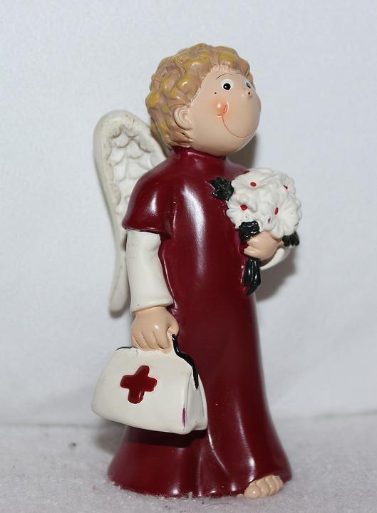 Engelfigur, Deko, Gute Besserung, Erste Hilfe, Koffer