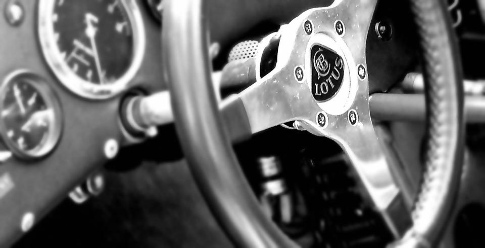 Lotus Racing Car Interior Steering Wheel Power