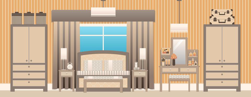 무료 일러스트: 침실, 침실 인테리어, 디자인, 침대 - Pixabay의 ...