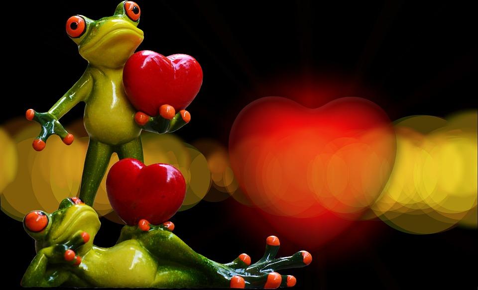 愛, バレンタインデー, ペア, ロマンス, 一緒, ロマンチックな, 恋人, 運, 心, 幸せです