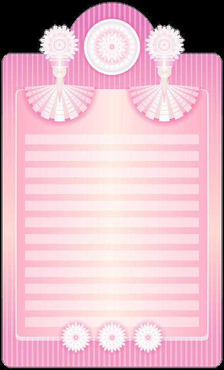 pink writing paper