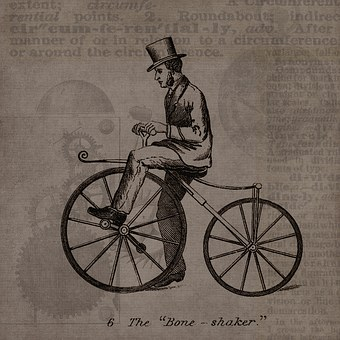 Vintage, Steampunk, Bicycle, Patent