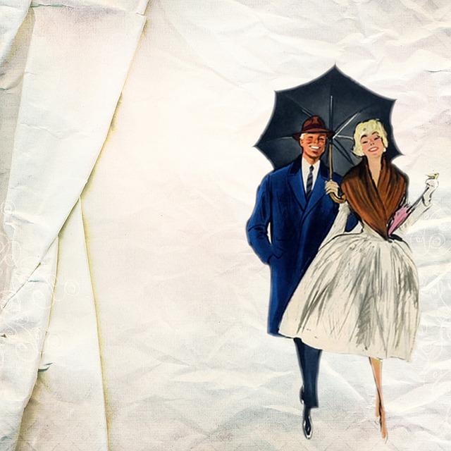 Free Illustration Vintage Retro Background Couple