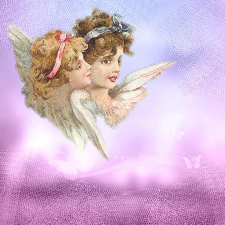 Favorito Illustrazione gratis: Vintage, Angeli, Cherubino, Sfondo  BE18