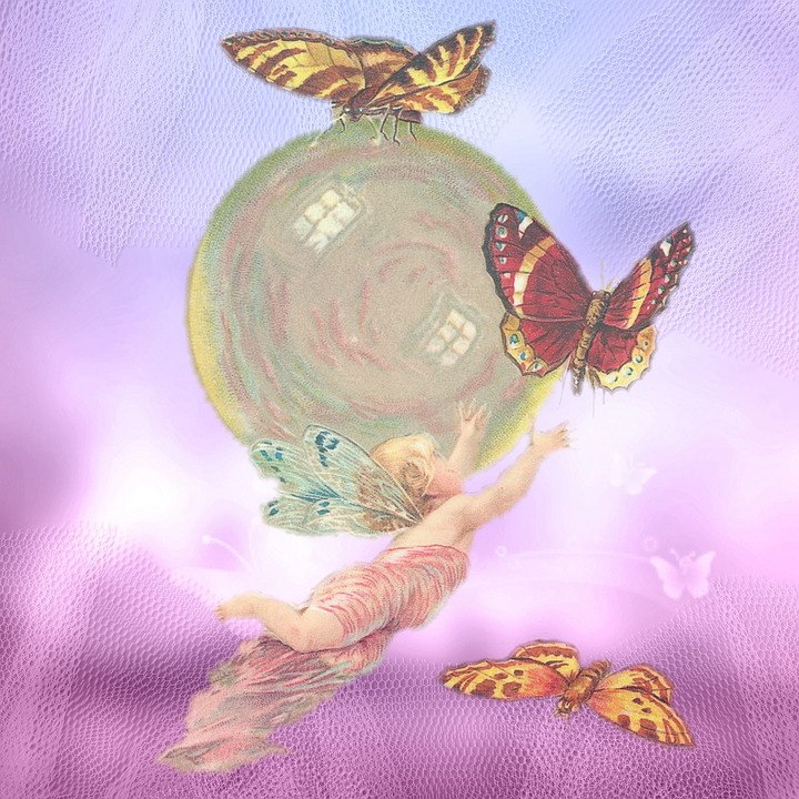 vintage angel butterflies  u00b7 free image on pixabay