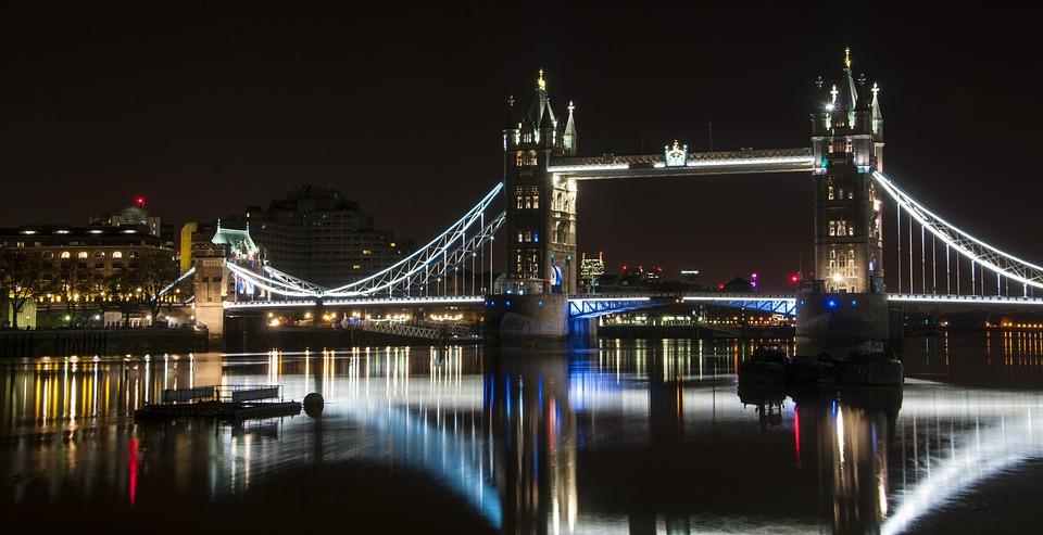 Photo Gratuite London Bridge Nuit Londres Pont Image